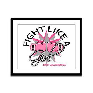 Licensed Fight Like a Girl 12.3 Framed Panel Print