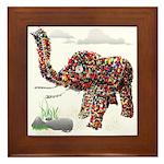 Beaded Wire art Elephant Beaded Framed Tile