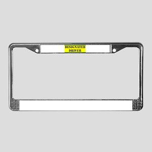 Designated Driver License Plate Frame
