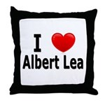 I Love Albert Lea Throw Pillow