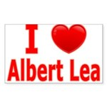 I Love Albert Lea Sticker (Rectangle 10 pk)