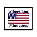 Albert Lea US Flag Framed Panel Print