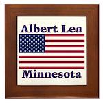 Albert Lea US Flag Framed Tile