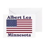 Albert Lea US Flag Greeting Card