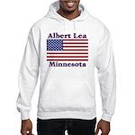Albert Lea US Flag Hooded Sweatshirt