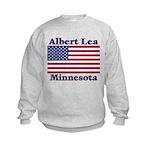 Albert Lea US Flag Kids Sweatshirt