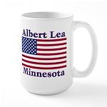 Albert Lea US Flag Large Mug
