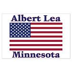 Albert Lea US Flag Large Poster