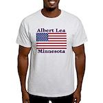 Albert Lea US Flag Light T-Shirt