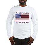 Albert Lea US Flag Long Sleeve T-Shirt