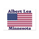 Albert Lea US Flag Mini Poster Print