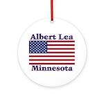 Albert Lea US Flag Ornament (Round)