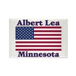 Albert Lea US Flag Rectangle Magnet