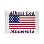 Albert Lea US Flag Rectangle Magnet (100 pack)