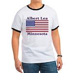 Albert Lea US Flag Ringer T
