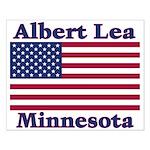 Albert Lea US Flag Small Poster