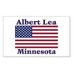 Albert Lea US Flag Sticker (Rectangle)