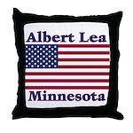 Albert Lea US Flag Throw Pillow