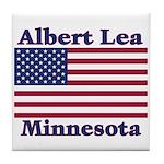 Albert Lea US Flag Tile Coaster