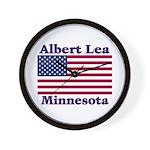 Albert Lea US Flag Wall Clock