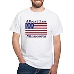 Albert Lea US Flag White T-Shirt