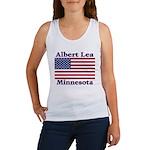 Albert Lea US Flag Women's Tank Top