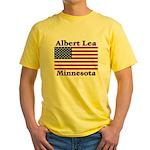 Albert Lea US Flag Yellow T-Shirt