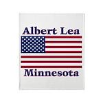 Albert Lea US Flag Throw Blanket