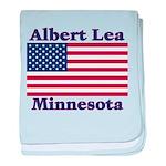 Albert Lea US Flag baby blanket