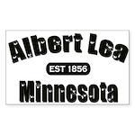 Albert Lea Established 1856 Sticker (Rectangle 50