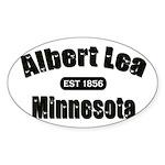 Albert Lea Established 1856 Sticker (Oval 10 pk)