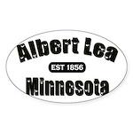 Albert Lea Established 1856 Sticker (Oval 50 pk)
