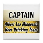 Albert Lea Beer Drinking Team Tile Coaster