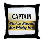 Albert Lea Beer Drinking Team Throw Pillow