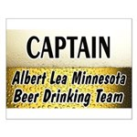 Albert Lea Beer Drinking Team Small Poster