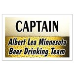 Albert Lea Beer Drinking Team Large Poster
