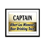 Albert Lea Beer Drinking Team Framed Panel Print