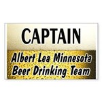 Albert Lea Beer Drinking Team Sticker (Rectangle 5