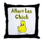 Albert Lea Chick Shop Throw Pillow