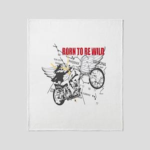 Bikers Throw Blanket