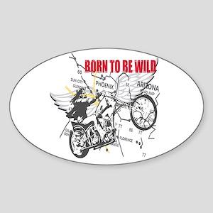 Bikers Sticker (Oval)