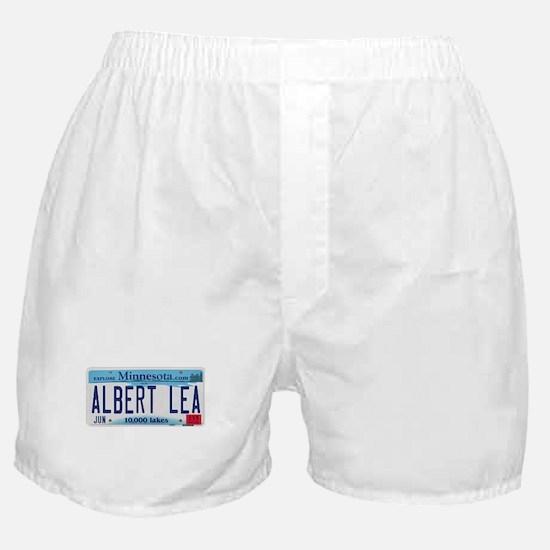 Albert Lea License Plate Boxer Shorts