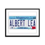 Albert Lea License Plate Framed Panel Print