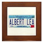 Albert Lea License Plate Framed Tile