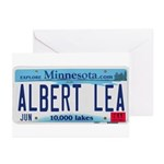 Albert Lea License Plate Greeting Cards (Pk of 10)