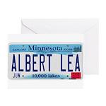 Albert Lea License Plate Greeting Cards (Pk of 20)