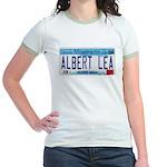 Albert Lea License Plate Jr. Ringer T-Shirt