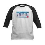 Albert Lea License Plate Kids Baseball Jersey