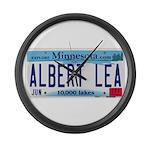 Albert Lea License Plate Large Wall Clock