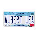 Albert Lea License Plate Mini Poster Print